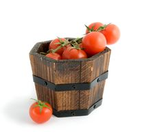 Free Small Barrel Of Cherry Tomatoes Stock Photo - 4949290