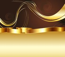 Free Brown And Gold Background Royalty Free Stock Photo - 49499265