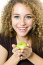 Free Holding An Apple Stock Photo - 4955220