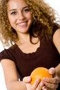 Free Girl Holding Orange Royalty Free Stock Photo - 4957505