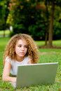 Free Woman With Laptop Royalty Free Stock Photos - 4958118