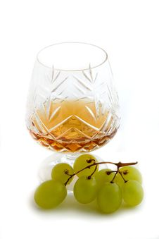 Free Cognac And Grape Royalty Free Stock Photography - 4950027