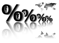 People And Percent Illustration Royalty Free Stock Photos