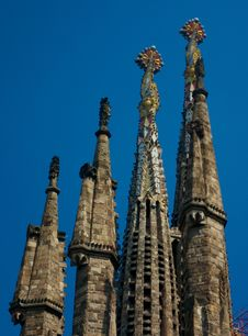 Free Barcelona Sagrada Familia Royalty Free Stock Photography - 4950977