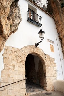 Free Romantic-Doorway-Guadalest-Spanish-Entrance Royalty Free Stock Photography - 4951367