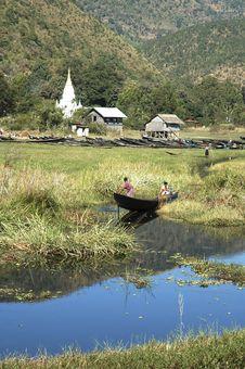 Free Myanmar, Inle Lake: Landscape Royalty Free Stock Photo - 4951425