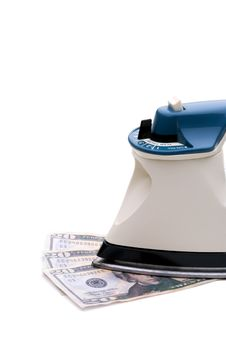 Ironing Out The Economy Royalty Free Stock Photography