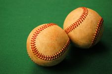 Two Baseballs Royalty Free Stock Image