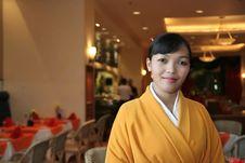 Free Waitress In Kimono Stock Image - 4952121