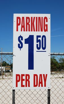 Free Parking Lot Sign Royalty Free Stock Photos - 4952308
