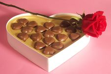 Free Heart Shape Chocolates Royalty Free Stock Photo - 4953905