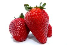 Free Three Strawberries Royalty Free Stock Photos - 4954018