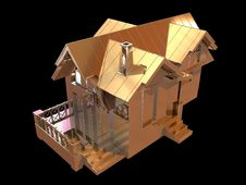 Free 3D Golden House Stock Photography - 4954082