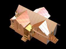 Free 3D Golden House Stock Photos - 4954083
