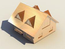 Free 3D Golden House Stock Photo - 4954090