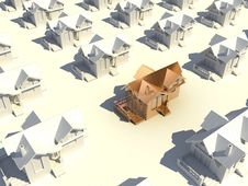 3d Golden House Royalty Free Stock Image