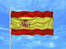 Free Spain Flag Royalty Free Stock Photos - 4954678