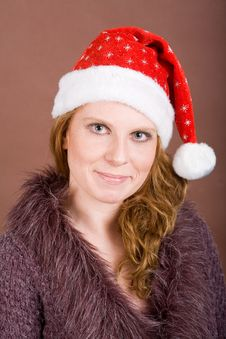 Free Sympathic Woman-Santa Stock Images - 4954784