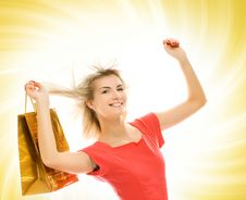 Free Woman With A Bag Stock Photo - 4954870