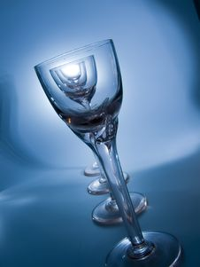 Free Blue Glass Royalty Free Stock Photos - 4955338