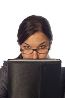 Free Woman With Notebook Stock Image - 4956581