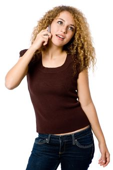 Free Girl On Phone Royalty Free Stock Images - 4957209