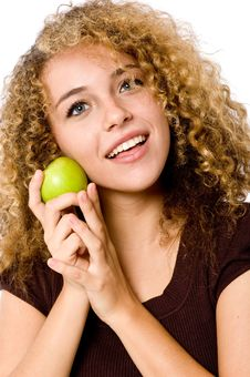 Free Girl With Apple Royalty Free Stock Photo - 4957385