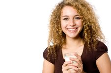 Free Girl With Milk Stock Images - 4957544