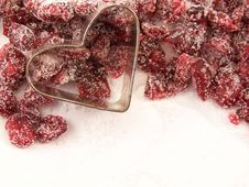Free Dried Cranberries And Sugar Royalty Free Stock Image - 4957936