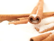Free Cinnamon Sticks And Sugar Royalty Free Stock Photo - 4958265