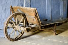 Free Old Wooden Barrow Royalty Free Stock Image - 4958926