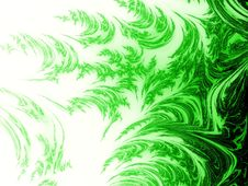 Abstract Green Side Flame Royalty Free Stock Photos