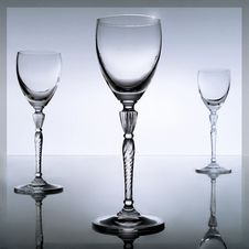 Three Glasses Royalty Free Stock Images