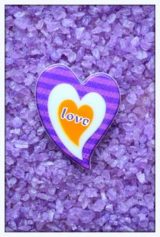Free Heart On Purple Background Royalty Free Stock Photos - 49555448