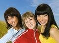 Free Three Happy Girls Stock Photography - 4963642