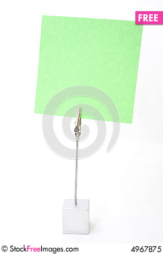 Free Note Paper Holder Royalty Free Stock Photo - 4967875