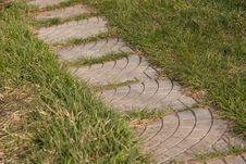 Free Path In Grass Stock Image - 4960171