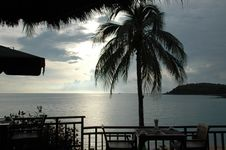 Free Resturant With Tropical View Royalty Free Stock Photography - 4961857