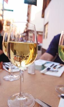 Free Glass Of Chardonnay Stock Image - 4961861