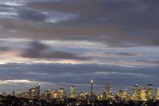 Free Sydney - Night Skyline Royalty Free Stock Images - 4962559