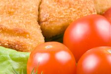 Free Chicken Nuggets With Vegetables Stock Photography - 4963162