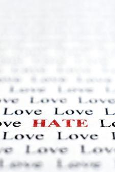Free Love & Hate Stock Photo - 4963340