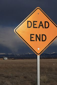 Free Dead End Sign Royalty Free Stock Photo - 4963955