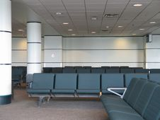 Airport Waiting Room Royalty Free Stock Photos