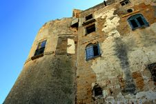 Ancient Castle Wall, Italy Royalty Free Stock Image