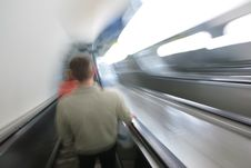 Free Abstract Escalator With Passengers. Royalty Free Stock Photos - 4964818