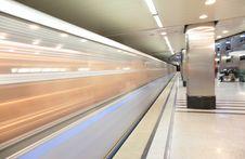 Free Moving Train On Metro Station Stock Photos - 4964883