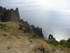 Rocks In Crimea, Black Sea Royalty Free Stock Image
