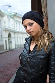 Free Portrait Of The Girl Near Wall Stock Photos - 4967743