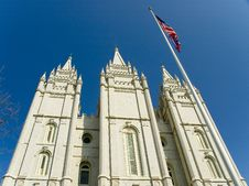 A Building At Temple Square Salt Lake City Utah Stock Photography